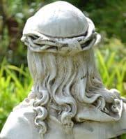 Jesus Crown of Thorns Bust stone garden statue